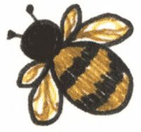 How To Draw A Simple Bee Bee Decorations Bee Painting Bee