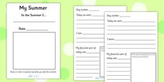 My Summer Booklet - summer, booklet, book, transition, holidays