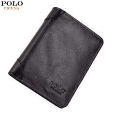 Men Wallet Natural Leather Short Fashion Business Famous Brand Waxy Genuine Leather Wallet