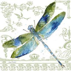 Dragonfly Bliss-JP3444 by Jean Plout