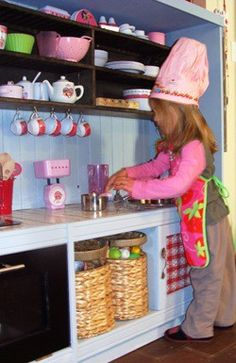 Kids kitchen from tv cabinet!  The cutest I have seen!!!!