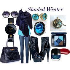 Shaded Winter by prettyyourworld on Polyvore featuring Vero Moda, Paige Denim, Hermès, Rado, Andara, Louis Vuitton, Christian Dior and Hourglass Cosmetics