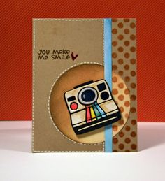 Card by SPARKS DT Trisha Theophilopoulos PS stamp sets: We Totally Click and Geo-Graphic; PS dies: Polaroid