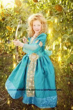 Merida Inspired Princess Dress Costume by 7dwarfsworkshop on Etsy, $55.00