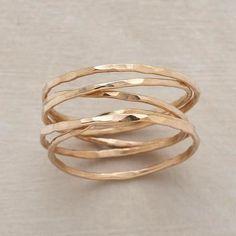 Gold spiral ring
