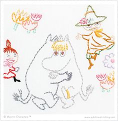 Sublime Stitching - Moomin Embroidery Patterns! - This one is Moomin Dance Party! Yay! Isn't it Adorable?  :)