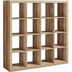 Storage Cube Organizer 16 Cubbies Shelves Bookcase Weathered Closet Furniture #BetterHomesandGardens #Contemporary