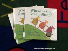 I am really excited about this Play to Learn based on Where is the Green Sheep? by Mem Fox because it really made me go out and find early . Kids Library, Elementary Library, Preschool Art, Preschool Activities, Zoo Crafts, Farm Unit, Primary Teaching, Literacy Stations, Author Studies