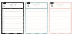 To Do Lists Polka Dots Freebie