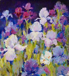 Iris Painting in Pastel - Irresistible Iris I Nel Whatmore