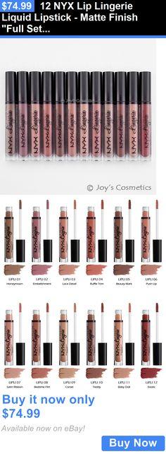Beauty Makeup: 12 Nyx Lip Lingerie Liquid Lipstick - Matte Finish Full Set *Joys Cosmetics* BUY IT NOW ONLY: $74.99