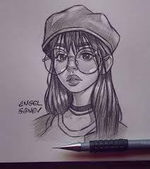 Girl Drawing Sketches, Girly Drawings, Cartoon Girl Drawing, Art Drawings Sketches Simple, Cartoon Drawings, Easy Drawings, Drawing Drawing, Angel Drawing, Drawings Of Girls