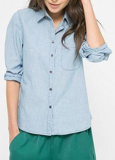 Helles jeanshemd - Damen | MANGO