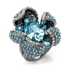 "Joan Boyce ""Flower Power"" Hematite-Tone Ring"