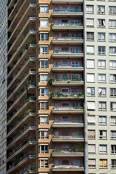 Edifício Planalto (1956) / Artacho Jurado High Rise Building, Rues, Terra, Interior Architecture, Brazil, Beautiful Places, Nostalgia, Multi Story Building, Construction