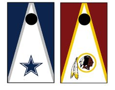 Dallas Cowboys and Washington Redskins Rivalry Cornhole Boards