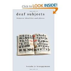 Deaf Subjects: Between Identities and Places (Cultural Front)
