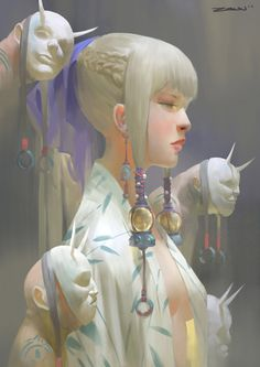 digital paintings by illustrator Zeen Chin. More images below.        Zeen Chin on ArtStation via: kings among runaways
