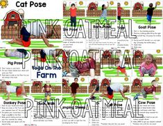 Description Combination of yoga poses and animal movement cards and printables to encourage movement into a students day with a farm theme! Pictures of kids in poses on the cards! See preview! Looking for yoga with pictures related to the farm instead of kids in the poses? Check these out! How to Use Cut out …