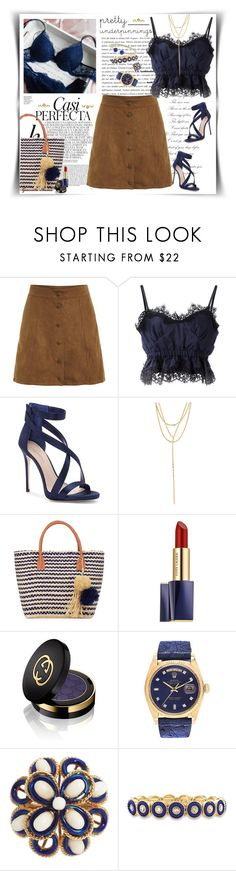 """The Prettiest Underpinnings"" by grachy ❤ liked on Polyvore featuring Whiteley, Sacai, Imagine by Vince Camuto, Lana, Buji Baja, Estée Lauder, Gucci, Rolex, David Yurman and contestentry"