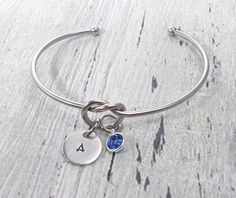 Excited to share the latest addition to my #etsy shop: Knot Bracelet, Personalized Knot Bracelet, Bridesmaid Gift, Couples Knot Bracelet, Tie The Knot Jewelry, Knot Bangle, Couples Gift #jewelry #bracelet #women http://etsy.me/2F41zGn