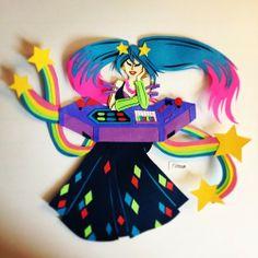 Arcade Sona - League of Legends Paper Craft Fan Art
