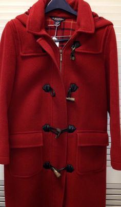 Brooks Brothers Women 100% Wool Peacoat Horn Toggles Size M, Plaid Inside #BrooksBrothers #PeaCoat