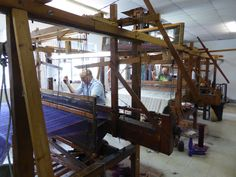 John Heena and Kevin McGillicuddy, Studio Donegal Weaving Process, Hand Weaving, West Coast Of Ireland, Thread Up, Creative Textiles, Textile Industry, Child Day, Industrial Revolution, Donegal