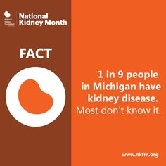 Kidney disease is more common than you may think. Learn about kidney disease and what you can do to prevent and manage it. nkfm.org/KidneyMonth #KidneyMonth