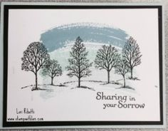 Stampin' Up Sympathy card using Lovely as a Tree, Work of Art, and Thoughts and Prayers.