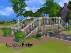 CL deco Bridge at ChiLLis Sims • Sims 4 Updates