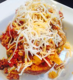 21 Day Fix Sloppy Joe Stuffed Sweet Potatoes
