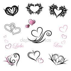 Tatuaggio cuore, giorno di San Valentino — Illustrazione stock #118756482
