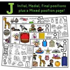 J All Positions- Smash Mat J Sound, Data Collection Sheets, Therapy Ideas, Speech And Language, Disorders, Bugs, Positivity, Shop, Free