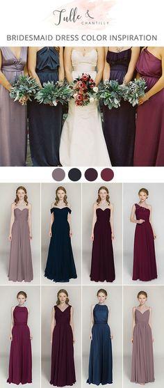 jewelry tones fall wedding colors bridesmaid dresses