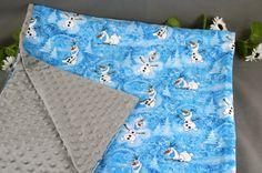 Frozen Blanket Olaf   Toddler - Kids Minky Disney Print Blanket Throw   Handmade Gift   Boys Blanket   Personalization Available by 2KrazyLadiesCrafts on Etsy