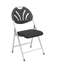 Office Star Folding Chair with Black Plastic Fan Back and Fabric Seat with Silver Frame, Ships 4 Per Carton Best Folding Chairs, Plastic Folding Chairs, Public Seating, Office Seating, Office Chairs, Blue And Silver, Blue Grey, Office Star, Ideas