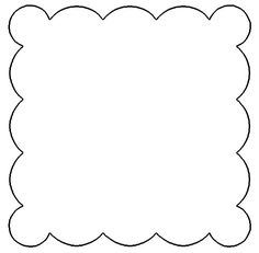 Free Scallop Patterns for Scrapbooking - Scalloped Square Design for You to Print Out