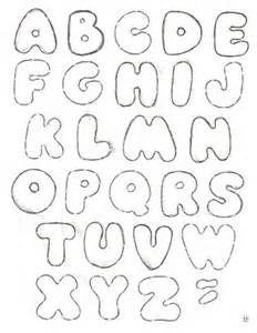 Cantinho da Jana: Moldes de letras para feltro