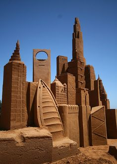 Sand art: Buildings of the World by EmilyFiggis, via Flickr