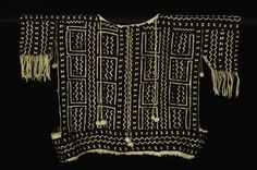 Africa | Jacket - tunic from Mali | Cotton; resist dyed, bogolanfini/mudcloth | 20th century | Artist: Tenenkou Traore