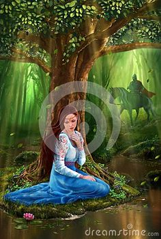 Mystery Fairytale Maiden And Prince In The Forest - Download From Over 26 Million High Quality Stock Photos, Images, Vectors. Sign up for FREE today. Image: 27015091