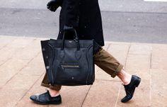 Celine Mens Bag, Milan, Men's Fall Winter Street Style Fashion.