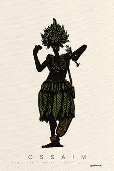 Ossaim, orixá das Folhas sagradas, conhece o segredo de todas elas. Junto com Oxóssi, protege as matas e os animais. - linhadasaguas.com.br