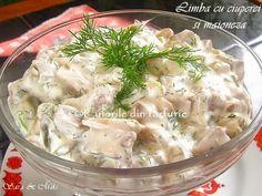 limba cu ciuperci si maioneza Potato Salad, Food And Drink, Potatoes, Ethnic Recipes, Salads, Potato