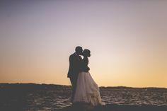 backyard wedding. Sunset Photos by Janelle Elise photography