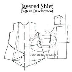 Layered Shirt sewing Pattern