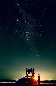 Power Rangers (2017). Not sure I'm interested in the movie, but this poster design is neat - especially with the faint stars forming their emblem.