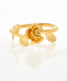 Gold-Plated Rose Vine Twist Ring, Alex Monroe. Shop more jewellery from the Alex Monroe collection online at Liberty.co.uk.