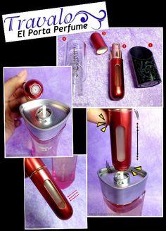 Un regaló especial para un ser querido.......  El Porta Perfume TRAVALO único, elegante y Chic